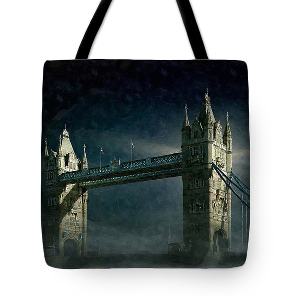 Tower Bridge In Moonlight Tote Bag