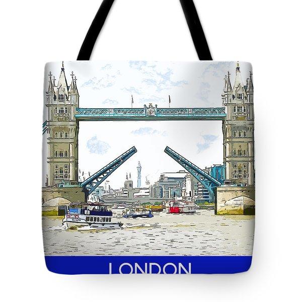 Tower Bridge London England Tote Bag