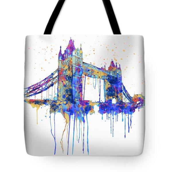 Tower Bridge Watercolor Tote Bag