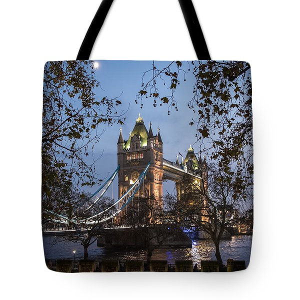 Tower Moon Tote Bag