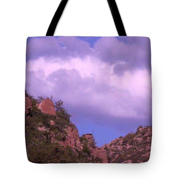 Tower Mountain Tote Bag