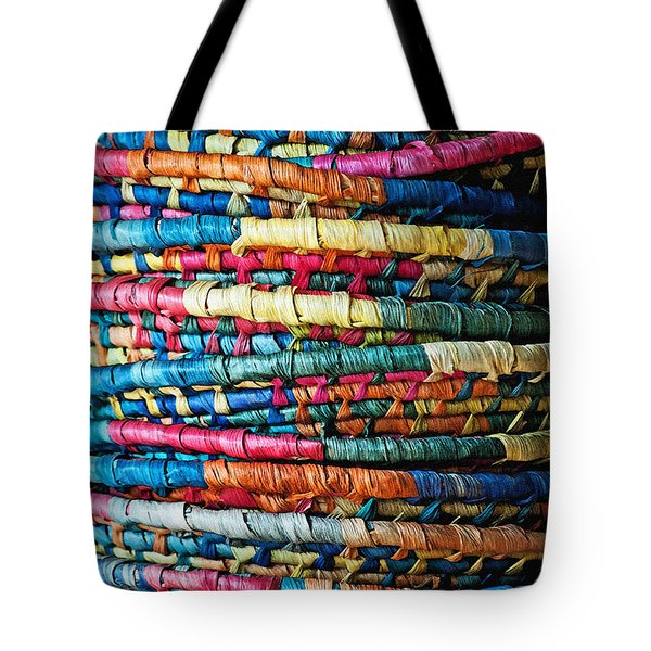 Tower Of Baskets Tote Bag by Gwyn Newcombe