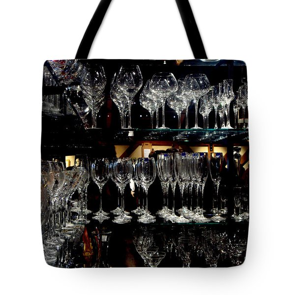 Tower Of Glass Tote Bag by Donna Blackhall