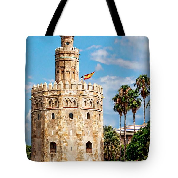 Tower Of Gold Tote Bag