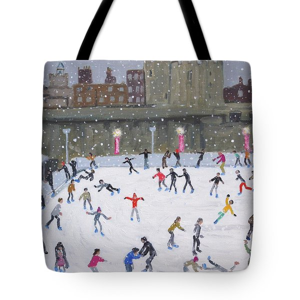 Tower Of London Ice Rink Tote Bag by Andrew Macara