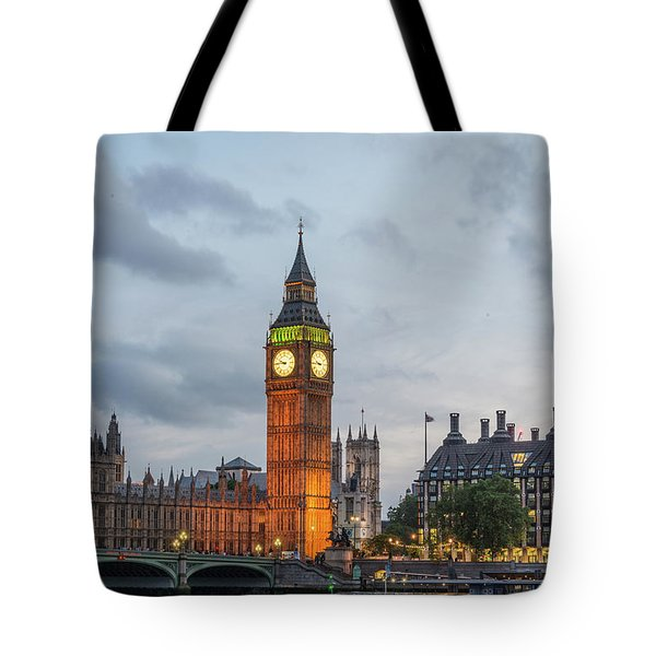 Tower Of London In The Moonlight Tote Bag