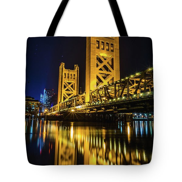Tower Reflections Tote Bag