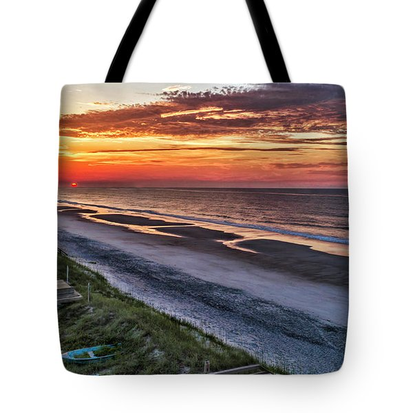 Tower Sunrise Tote Bag