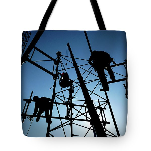 Tower Tech Tote Bag by Robert Geary