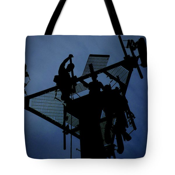 Tower Top Tote Bag by Robert Geary