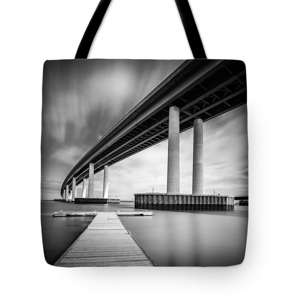 Tote Bag featuring the photograph Towering Bridge by Gary Gillette
