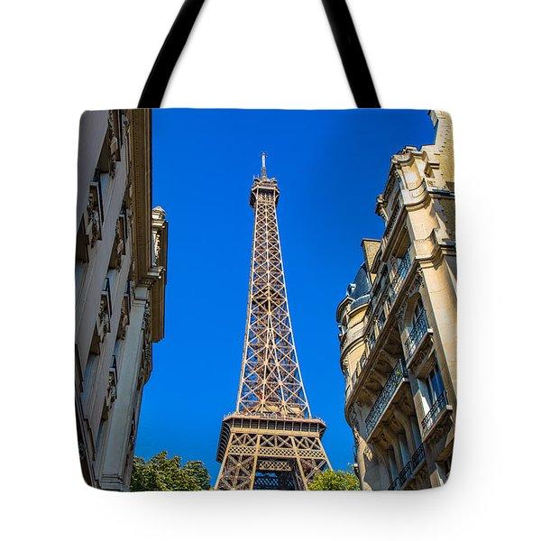 Towering Landmark Tote Bag by Kim Wilson