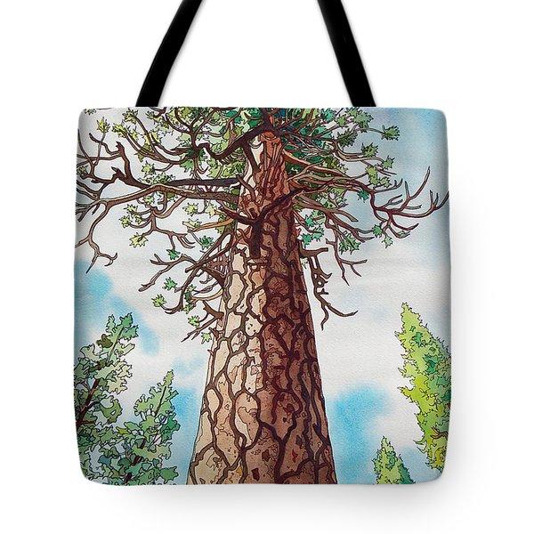 Towering Ponderosa Pine Tote Bag by Terry Holliday