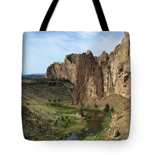 Towering Smith Rocks Tote Bag