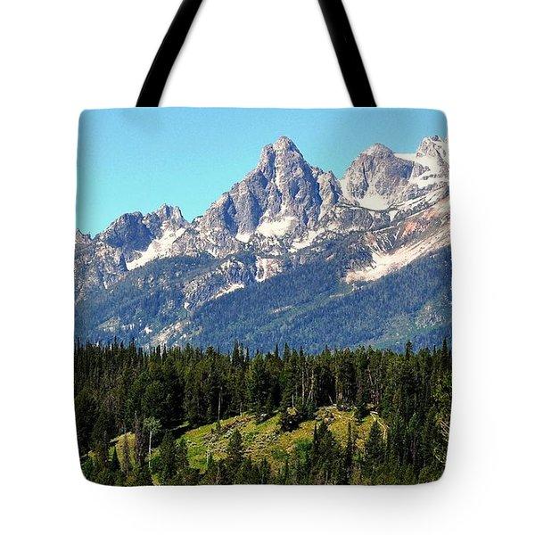 Towering Teton Range  Tote Bag