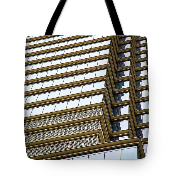 Tote Bag featuring the photograph Towering Windows by Karol Livote