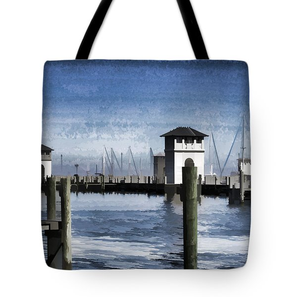 Towers And Masts Tote Bag by Roberta Byram