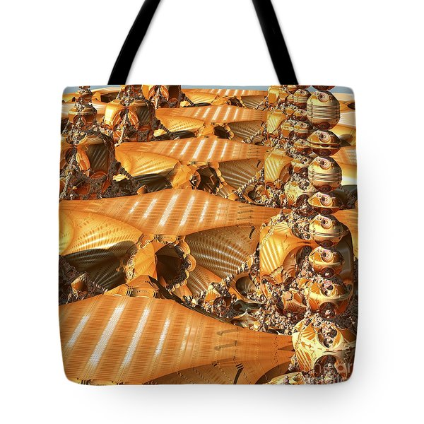 Towers And Patterns Tote Bag