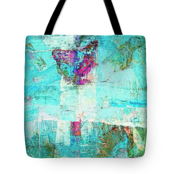 Tote Bag featuring the painting Towers by Dominic Piperata