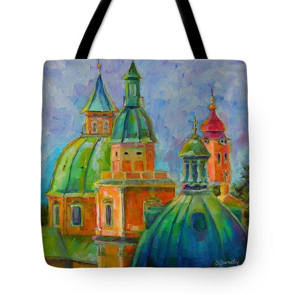 Towers Of Salzburg Tote Bag