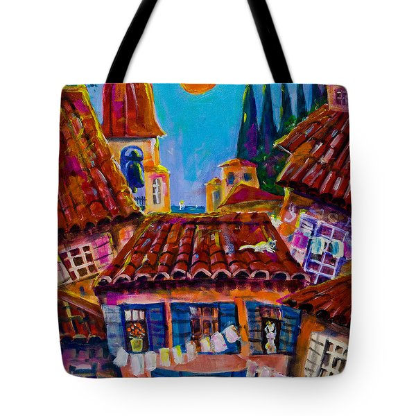 Town By The Sea Tote Bag