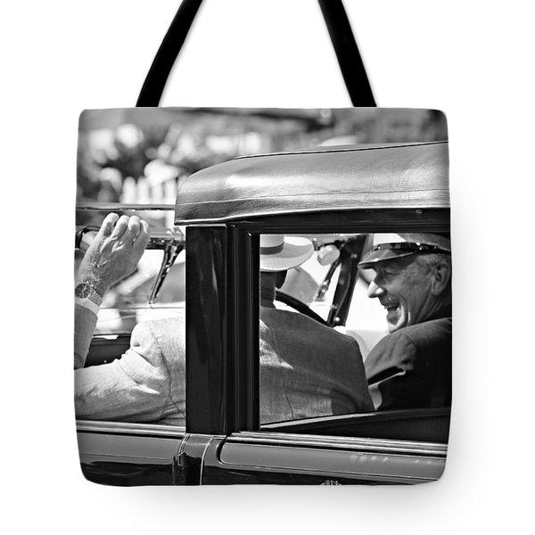Town Car At Pebble Beach Tote Bag