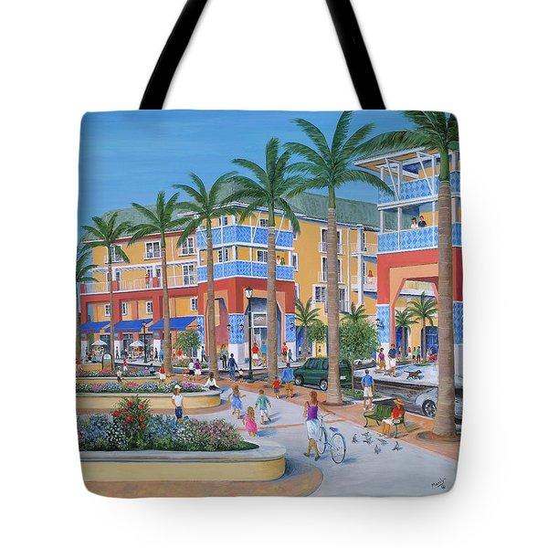 Town Center Abacoa Jupiter Tote Bag by Marilyn Dunlap