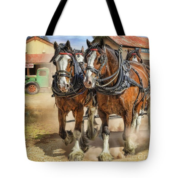 Town Day Tote Bag