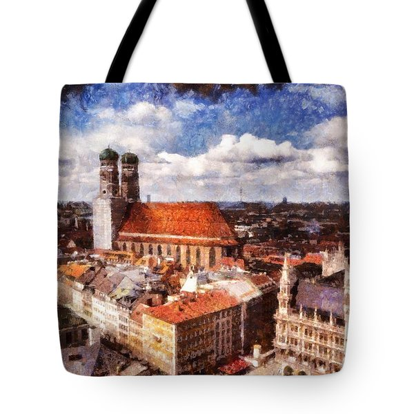 Town Hall. Munich Tote Bag by Sergey Simanovsky