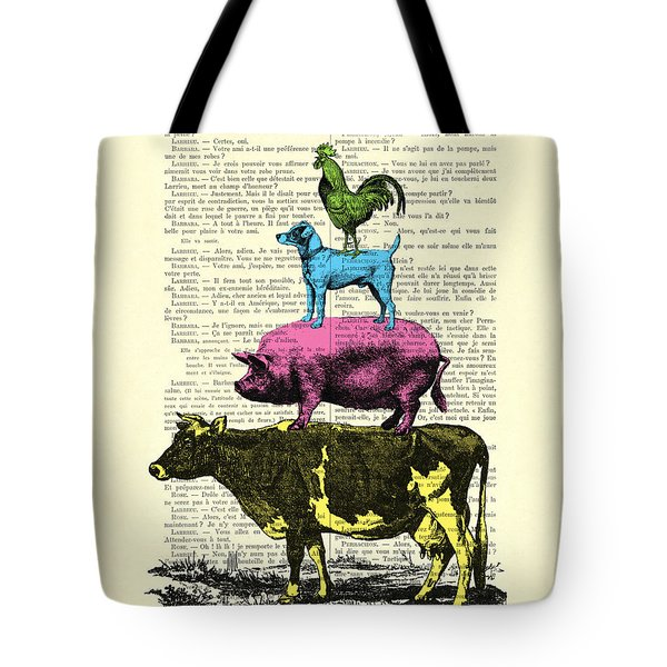 Town Musicians Of Bremen, Satire Tote Bag