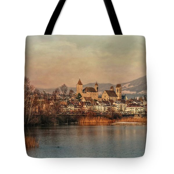 Tote Bag featuring the photograph Town Of Roses by Hanny Heim