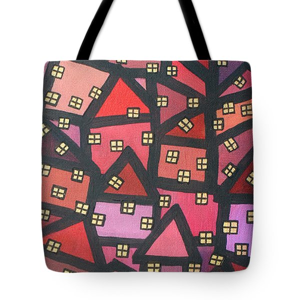 Town Of The Rising Sun Tote Bag by Jutta Maria Pusl