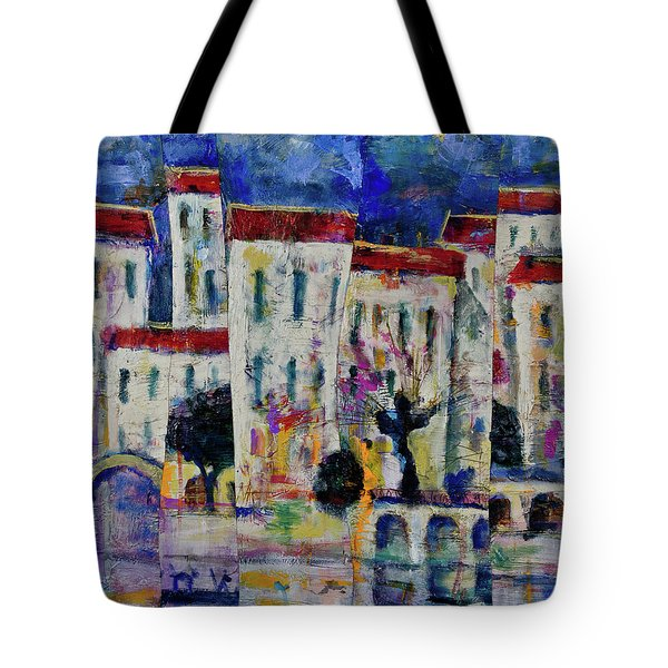 Town On The Rever Tote Bag
