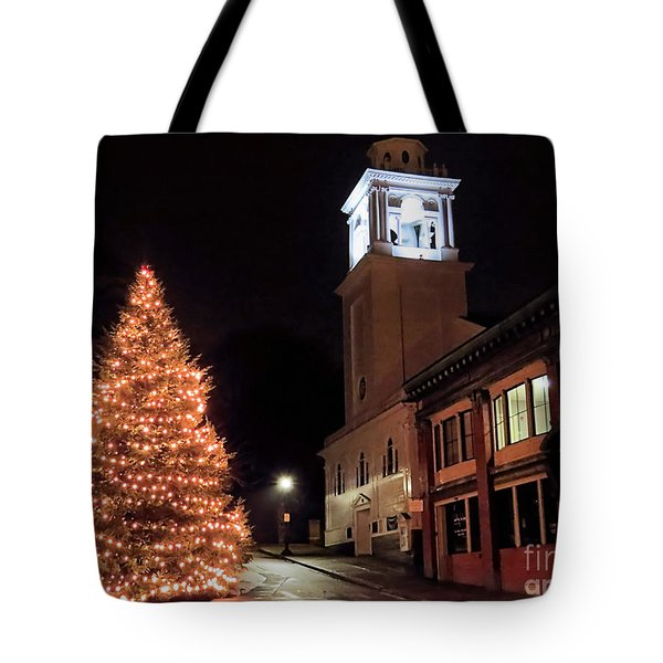 Town Square Plymouth Ma  Tote Bag