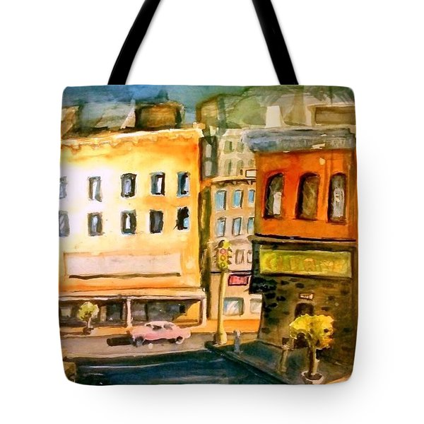 Tote Bag featuring the painting Town by Steven Holder