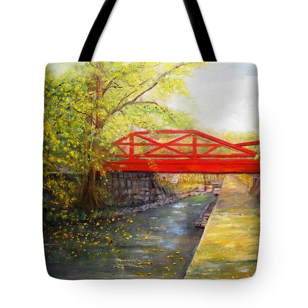 Towpath In New Hope Tote Bag