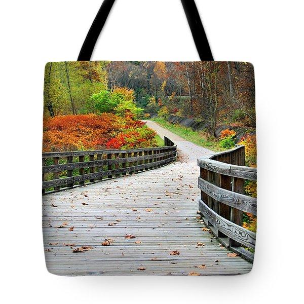 Towpath In Summit County Ohio Tote Bag