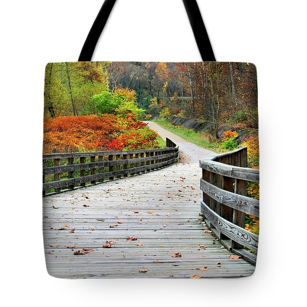 Towpath In Summit County Ohio Tote Bag by Kristin Elmquist