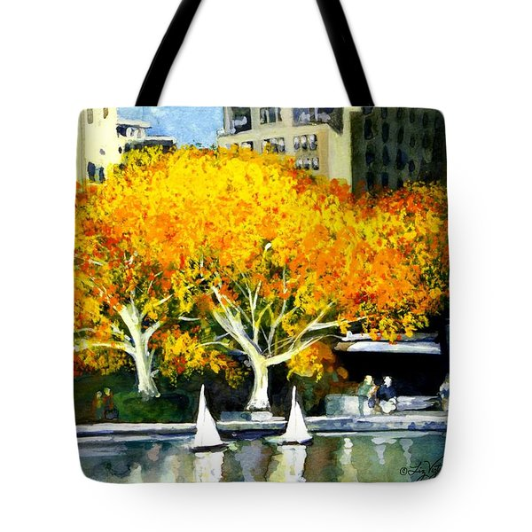 Toy Boats In The Park Tote Bag