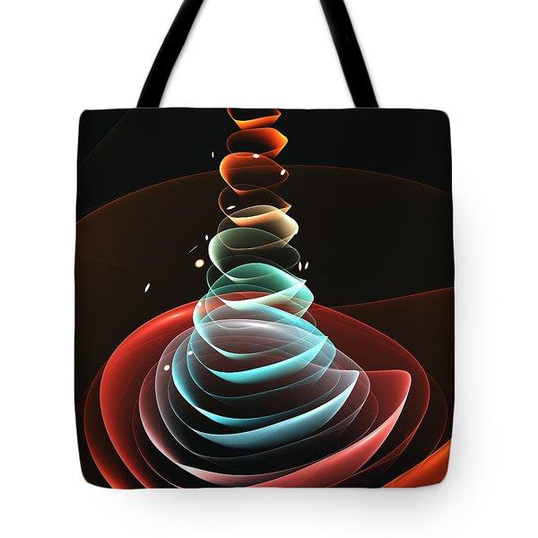 Tote Bag featuring the digital art Toy Pyramid by Anastasiya Malakhova