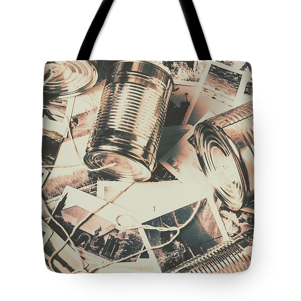 Toy Telecommunications Tote Bag