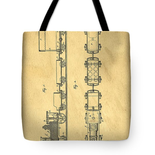 Toy Train Original Vintage Patent Art Tote Bag