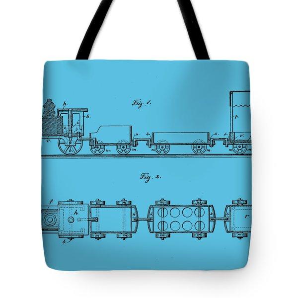 Toy Train Tee Tote Bag