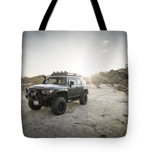 Toyota Fj Cruiser In Saudi Arabia Tote Bag