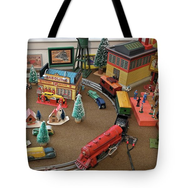Toytown - Train Set Overview Tote Bag