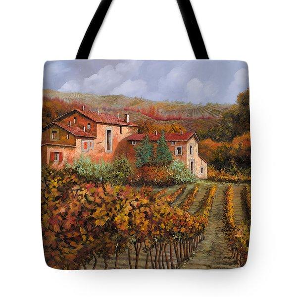 tra le vigne a Montalcino Tote Bag