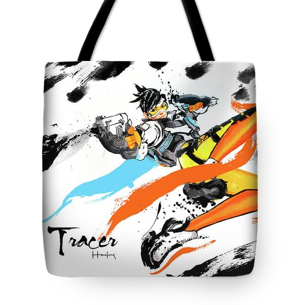 Tracer Overwatch Tote Bag by Haze Long