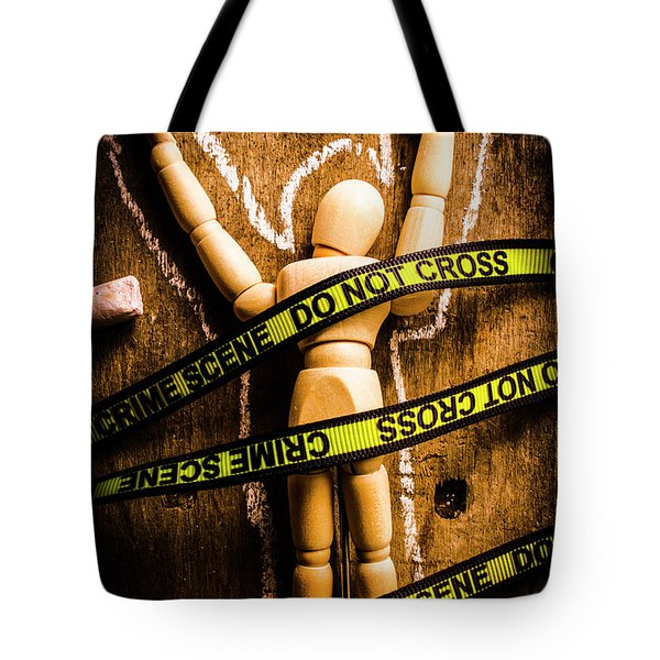 Tracing Of Tragedy Tote Bag