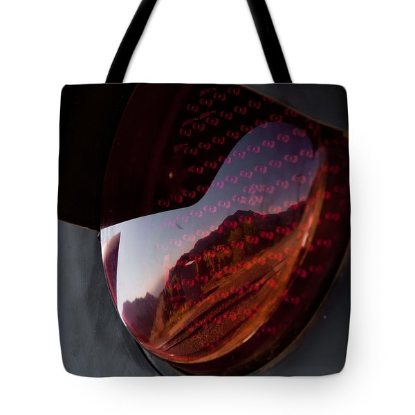 Track Reflections Tote Bag by Colleen Coccia