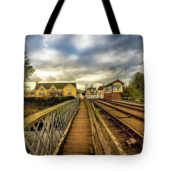 Tote Bag featuring the photograph Track Side Steam by Cliff Norton